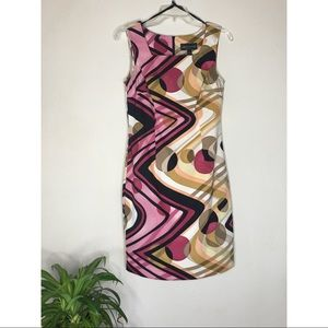 Connected Apparel Women's Geometric Print dress